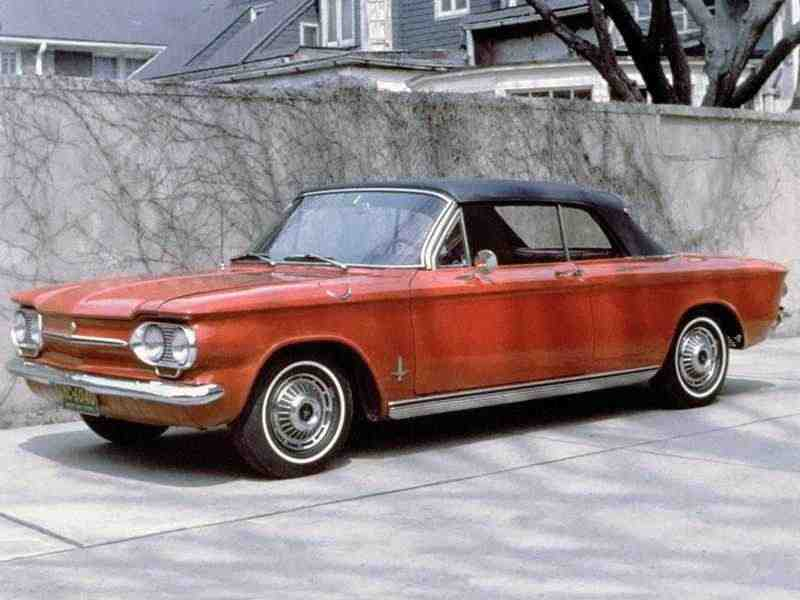 Chevrolet Corvair 1 поколение  [3-й рестайлинг] кабриолет 2.4 4Synchromesh 1963–1963